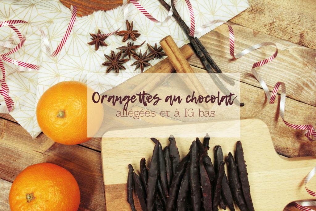 orangettes allégées au chocolat noir