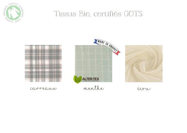 tissus mouchoirs bio lavable