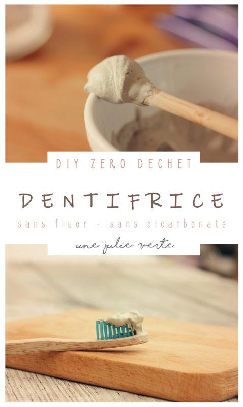 dentifrice maison, recette DIY, naturel, slow cosmetique, argile verte, sans bicarbonate, sans fluor, bio, facile, efficace, ecologique, une julie verte,