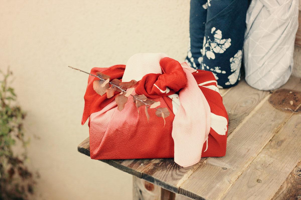 furoshiki cadeau réutilisable