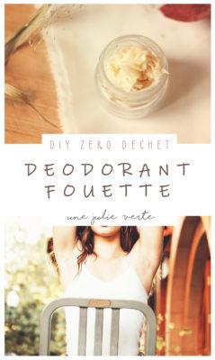 deodorant fouette maison, ecologique, efficace, simple, zero dechet, bio, une julie verte