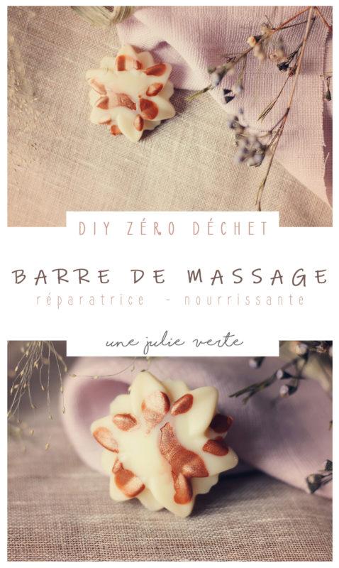 recette barre solide de massage, zéro déchet, une julie verte