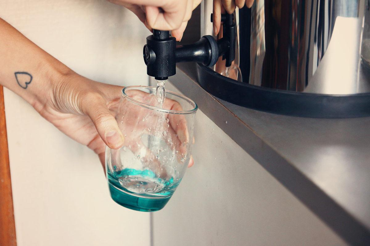 Verre avec filtre eau berkefeld doulton zero dechet une julie verte