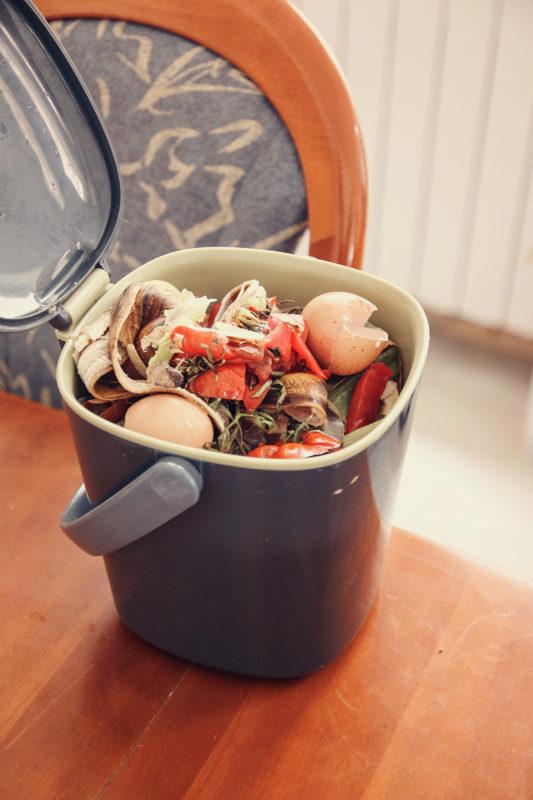 Compost poubelle cuisine zéro déchet